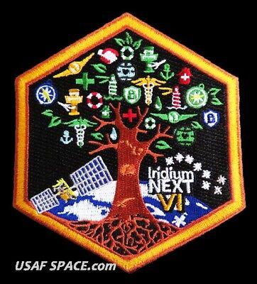 AUTHENTIC Iridium NEXT Launch-6 - SPACEX FALCON 9 USAF VAFB COMM SATELLITE PATCH