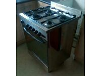 Stainless steel dual fuel cooker