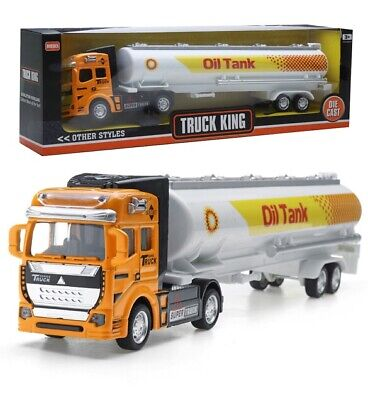 DIE CAST METAL MODEL TRUCK KING COLLECTORS OIL FUEL TANK TRAILER BOXED NEW