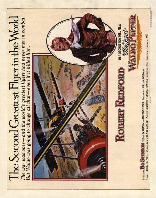 THE GREAT WALDO PEPPER Movie POSTER 22x28 Half Sheet Robert Redford Susan