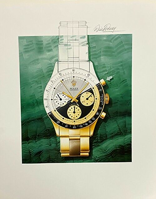 Signed David Penney Rolex Print/Poster