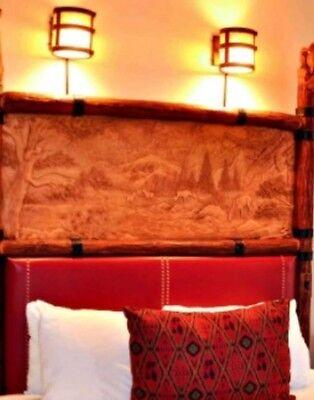 2 (Pair) WDW Disney's Wilderness Lodge Hidden Mickey Guest Room Light Prop