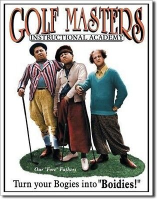 THE THREE 3 STOOGES Golf Masters Retro Metal Tin Sign MADE in the USA ()
