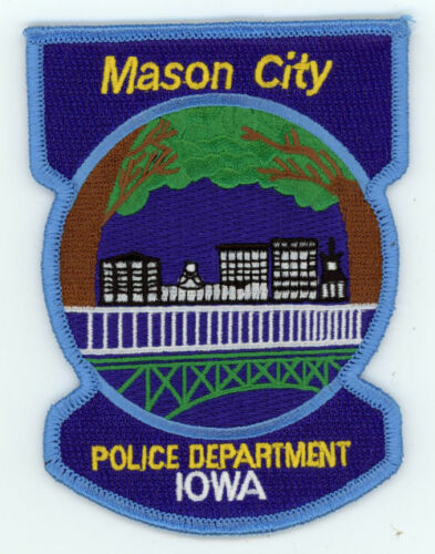 MASON CITY POLICE IOWA IA COLORFUL PATCH SHERIFF