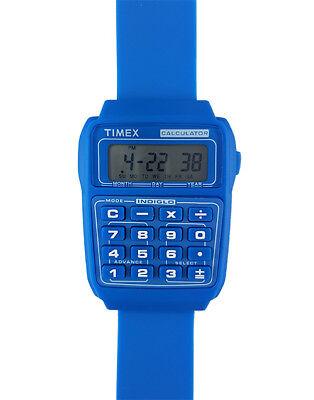 TIMEX 80 - ARMBANDUHR - TASCHENRECHNER - CALCULATOR - RETRO - WATCH - BLAU