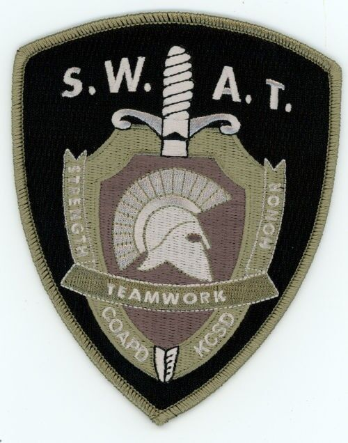 COEUR D ALENE POLICE KOOTENAI COUNTY SHERIFF SWAT IDAHO ID PATCH