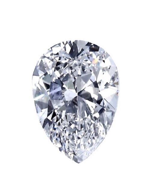 Certificate 1.30ct Pear Shape Excellent Ideal Cut Diamond L Color SI2 Clarity
