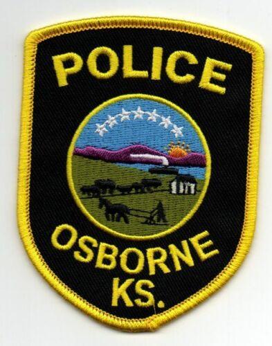 KANSAS KS OSBORNE POLICE NEW PATCH SHERIFF STYLE 1 OF 2
