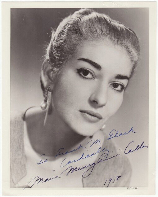 * MARIA CALLAS SIGNED PHOTO 8X10 RP AUTOGRAPHED PICTURE SOPRANO *