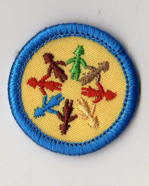 Retired Girl Scouts Junior Badge Patch Women Today Blue Border WTE