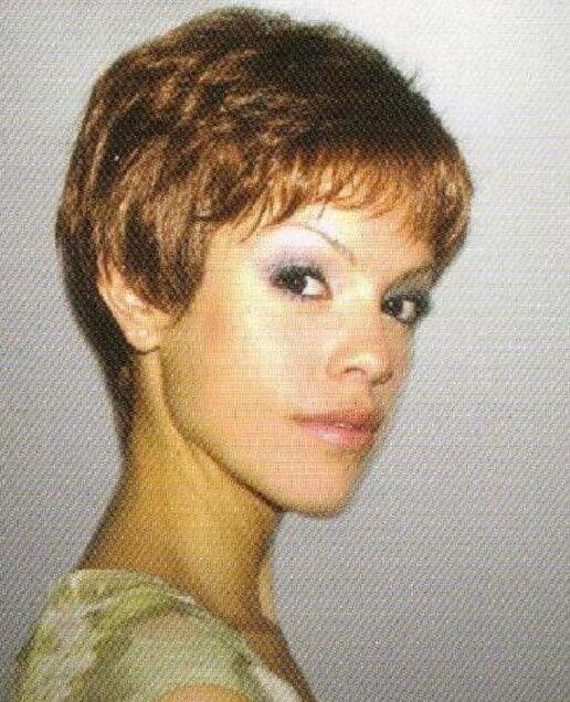 Short Auburn Straight Pixie Hair Wig Piece-Bene Hairdo