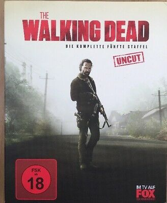 Blu-ray Kult Serie The Walking Dead Komplette 5. Staffel Uncut 6 Discs (Komplette Zombie)