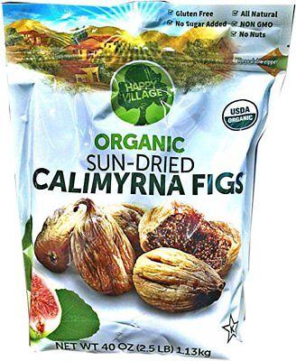 Happy Village Organic Sun-Dried Calimyrna Figs 40 oz