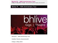 Boney M at Bournemouth Pavilion - Best Tickets in The House, Centre Front, Face Value
