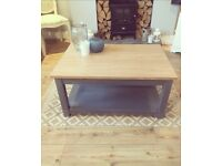 Coffee table with matching nest of tables available