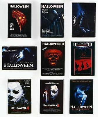 HALLOWEEN MOVIE POSTER FRIDGE MAGNETS (part 1 2 3 4 5 6 michael mondo myers mask