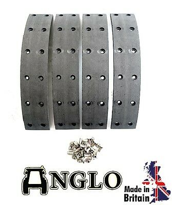 Fordson E27N Major Tractor Brake Drum Lining Kit with Rivets - UK MADE for sale  Shipping to United States