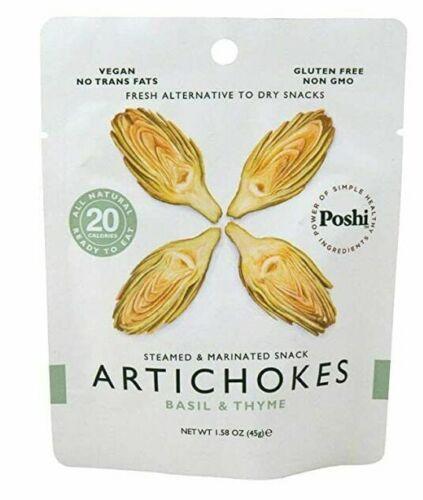 POSHI Artichokes Vegetable Snack, 1.58 OZ (Pack of 10)