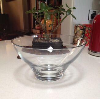 Large Glass Salad Bowl