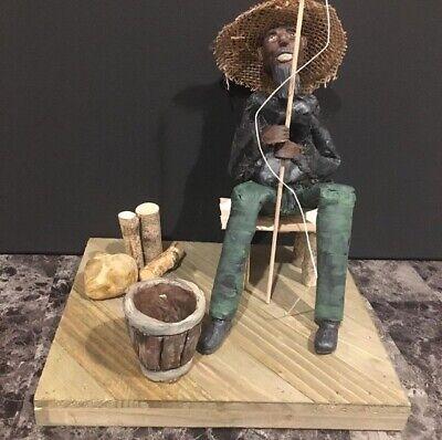 Original ethnic art sculpture by artist Karen Terry 8 in x 10 in base