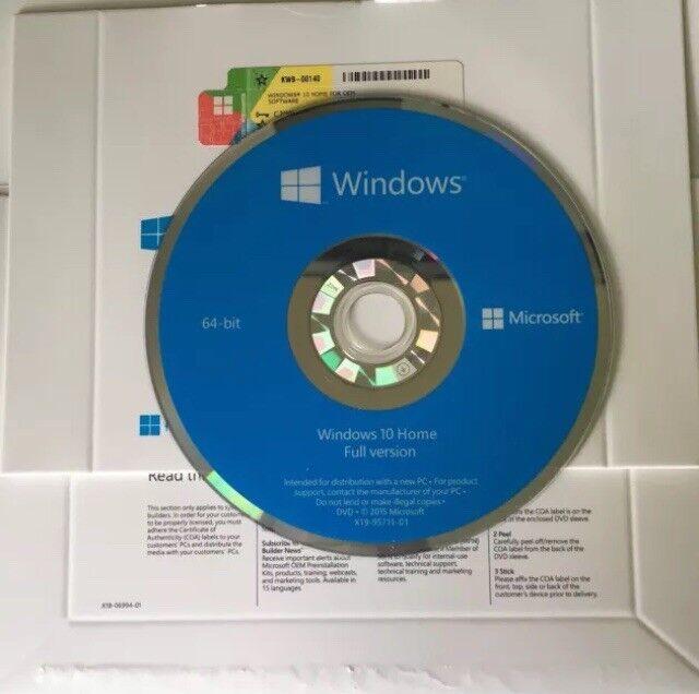 Microsoft Windows 10 Home (64-Bit) Windows KW9-00140