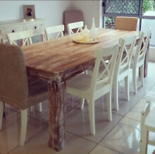 Reclaimed Pine Straight Leg Design Dining Table Brendale Pine Rivers Area Preview