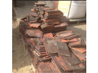 Red clay reclaimed tiles