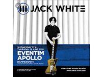 Jack White tickets - Hammersmith June 28