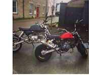 125cc reg as 50cc needs loom and number plate, have the V5 etc would be an ideal project
