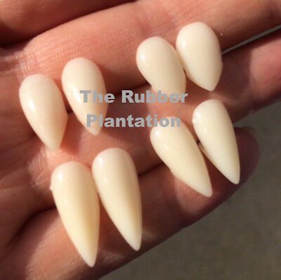 White Vampire Dracula Fangs Caps Teeth Fancy Dress With Putty Adhesive Halloween - Halloween Vampire Fangs With Putty