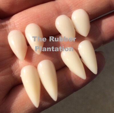 Weiß Vampir Dracula Zähne Mützen Zähne Kostüm Kleid mit Kitty Kleber Halloween ()