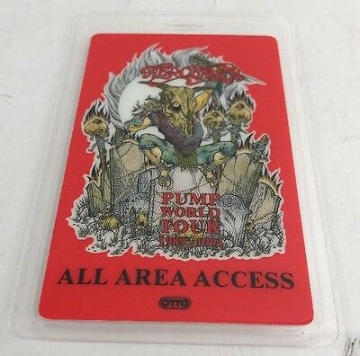 Aerosmith Pump 1989-1991 World Tour Backstage Concert Laminated Pass