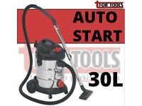 SEALEY PC300SDAUTO VACUUM CLEANER INDUSTRIAL 30LTR 1400W STAINLESS AUTO START