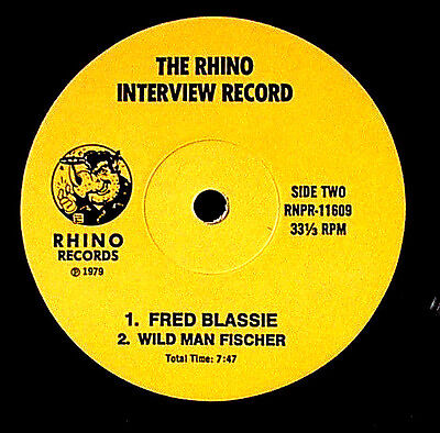 """1979 GEFILTE JOE FRED BLASSIE WILD MAN FISCHER INTERVIEWS 7"""" EP DR DEMENTO ZAPPA"""