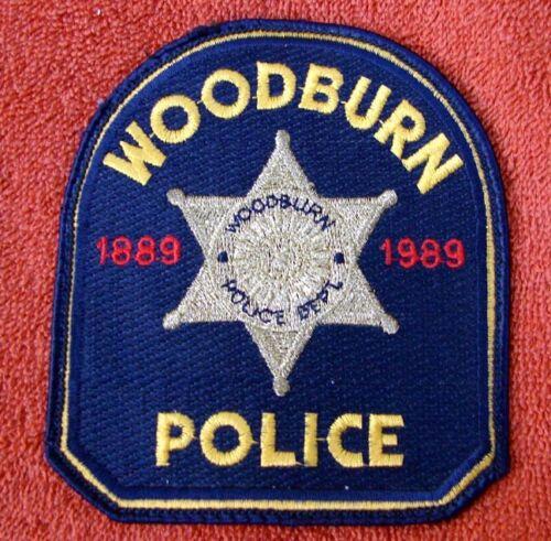 VINTAGE WOODBURN OREGON POLICE DEPT 1889 - 1989 CENTENIAL SHOULDER PATCH