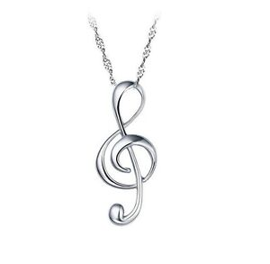 Music note necklace ebay sterling silver g clef pendant treble musical note music symbol necklace box l41 aloadofball Choice Image
