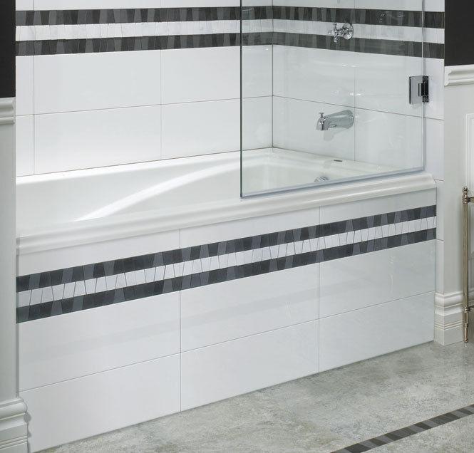 Neptune Delight 60x32 Modern Acrylic Rectangle Bathtub  With Whirlpool System