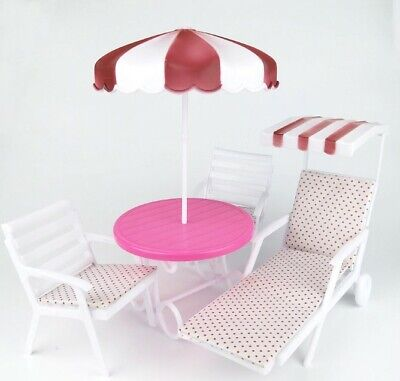 Garden Furniture Play set for Barbie House can be Outdoor Beach Sunshade