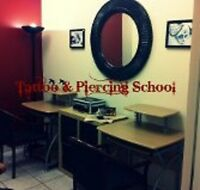 TATTOO SCHOOL, PIERCING SCHOOL