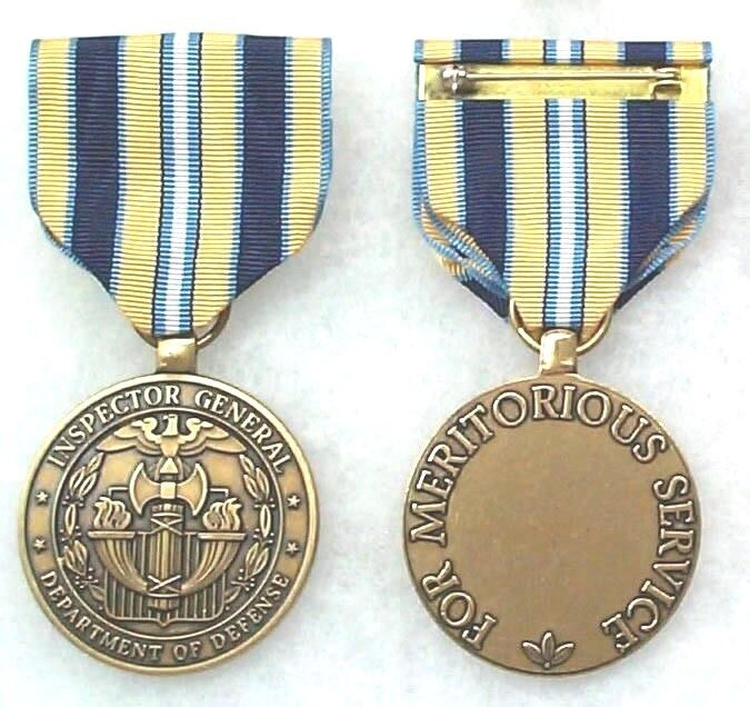 DoD Inspector General Agency Civilian Meritorious Service Medal, type 1 obsolete
