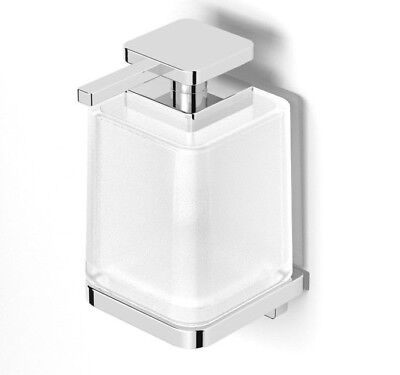 Milli GLANCE WALL MOUNT SOAP DISPENSER 350ml Frosted, Glass/Chrome