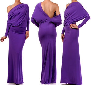 MULTI-WAY-Reversible-PLUNGING-Convertible-MAXI-DRESS-Off-Shoulder-Cruise-Party