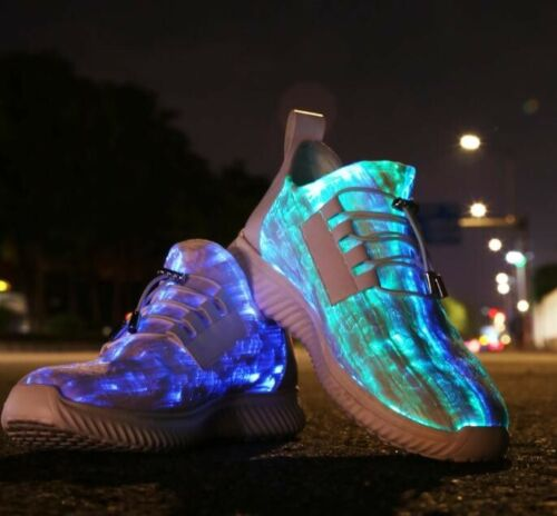 Led Shoes 7 Color Flashing Light Up Sneakers Party Festival Dancing Men Size 7.5
