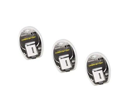 Bower 3x Batteries For Olympus Fe-5050 Fe-5500 Vr-310 Vr-...