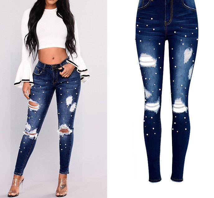 Pantalones Jeans Nueva Moda Para 2018 Ropa De Mujer Colombianos Rasgados Rotos