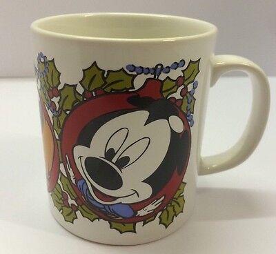 Disney Christmas Mickey Mouse Daisy Pluto Mug Cup Staffordshire