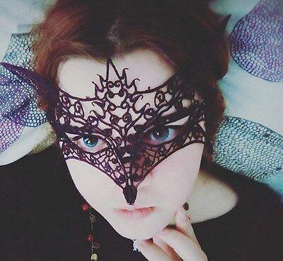 Female Halloween Costume Pics (3 pics Sexy Lace Eye Face Mask Masquerade Fox Halloween Costume Party Black)