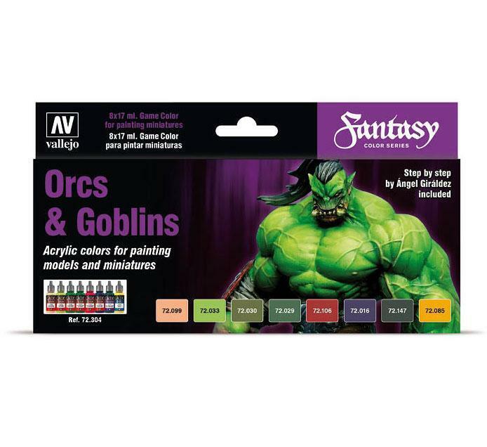 Vallejo Game Color - Fantasy Color Series: Orcs & Goblins Paint Set (72.304)