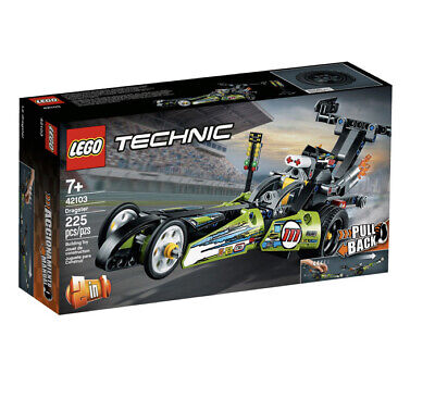 LEGO 42103 Technic Dragster Pull-Back Building Kit 225 Pieces Brand New! Sealed!