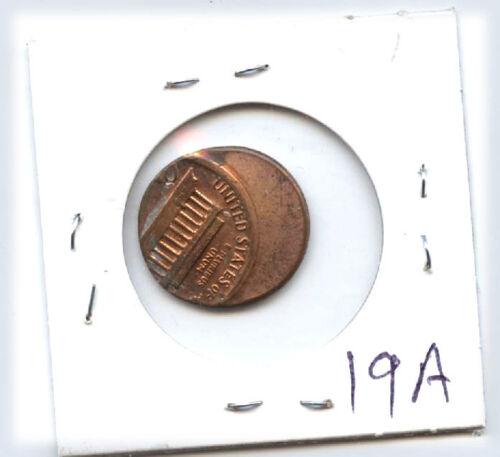 Lincoln Cent (1c) Srtuck Off Center-mint Error-